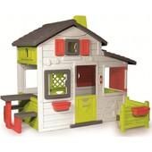 Большой дом с чердаком и звонком Smoby Friends House 310209.