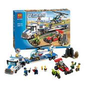 Конструктор Bela Urban 10422 Перевозчик вертолёта 410 деталей аналог Lego City 60049