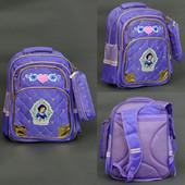 Рюкзак школьный, Белоснежка, 2 цвета, 4 отделения, 2 кармана, пенал, ортопедическая спинка