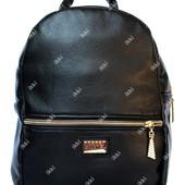 Стильный женский рюкзак черного цвета в стиле Chanel (Р-18)