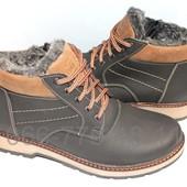 Ботинки мужские зимние, разные цвета