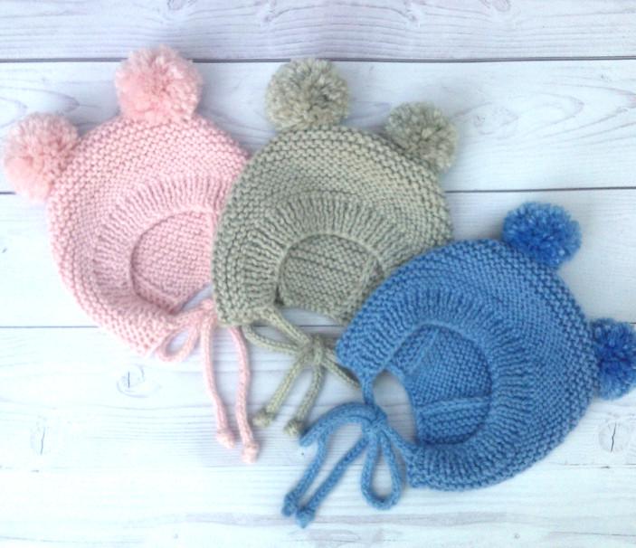 Вяжем чепчик-шапочку новорожденному