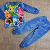 махровые пижамы мальчикам и девочкам с вышывкой