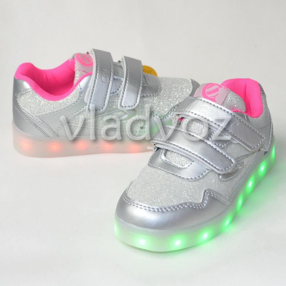 9d6d635b9028 Детские подростковые светящиеся кроссовки с led подсветкой usb для девочки  сер. 28р-35р.