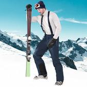 Мужские Softshell лыжные штаны с подтяжками  L 52-54 евро тсм Tchibo Чибо