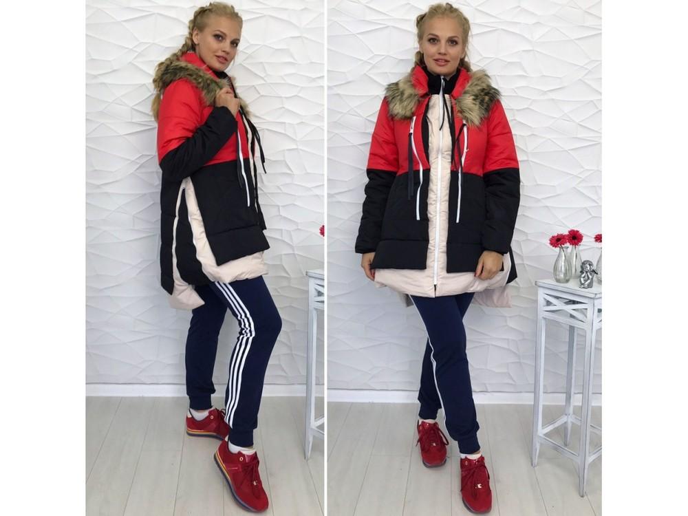 Женская куртка Аляска три цвета фото №1