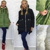 Женская куртка Аляска однотонная