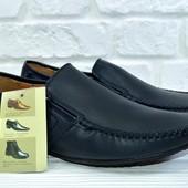 Мужские туфли мокасины кожа