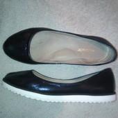 кожаные легкие туфли балетки