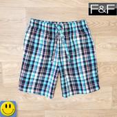 Новые домашние мужские шорты F&F р. М. сток. с карманами