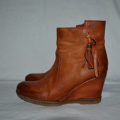 рыжие кожаные ботинки Roberto Santi, р. 37-38