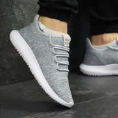 Кроссовки мужские Adidas Tubular Shadow Knit Gray