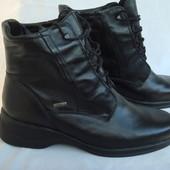 Ботинки женские р.41 осень-зима Caprice Германия, натур.кожа, мех, новые