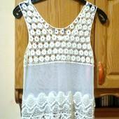 Гипюровая блузка - размер S,M