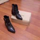 Кожаные ботинки Mango 36 размер