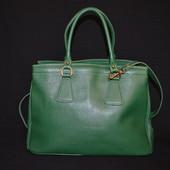 зеленая итальянская кожаная сумка