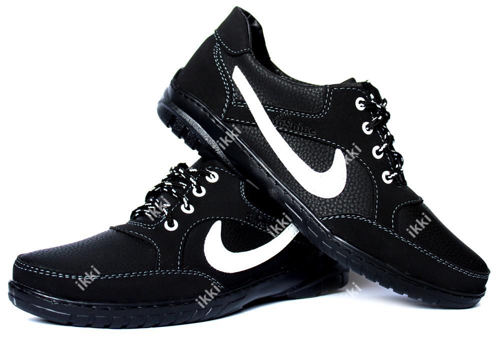 42 р мужские кроссовки в стиле найк с большим логотипом (скр-9чбч) фото №1