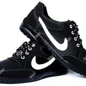 Мужские кроссовки в стиле Найк с большим логотипом (СКР-9чбч)