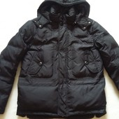 Зимняя пуховая куртка парка фирмы Zara Men р. M-L