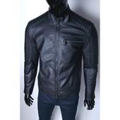 Демисезонная мужская куртка из очень качественной искусственной кожи!