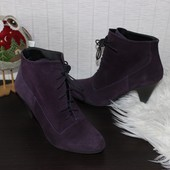 38 25,5см bc замшевые ботинки полусапоги на шнуровке