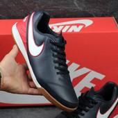 Футзалки Nike Tiempo dark blue