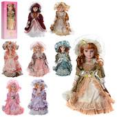 Кукла X11482  30см, фарфоровая, на подставке, 8 видов
