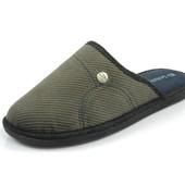 100-61-3V-025 , Тапочки мужские домашние Inblu Инблу , цвет - серый, размеры 40-46