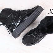 Ботинки на рифленой подошве В92808