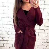 Распродажа!!! Размеры 42-54 Элегантное женское кашемировое пальто-кардиган