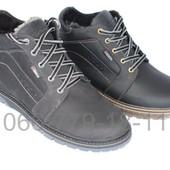 Мужские ботинки, натуральная кожа, зима