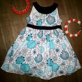Платье хлопок на 7лет(122см) в идеале!!!