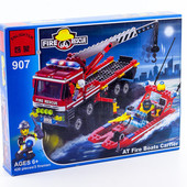 """Конструктор Brick 907 """"Пожарная техника"""" 420 деталей"""