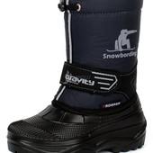 Зимняя детская обувь сапоги сноубутсы для морозов и слякоти в наличии Р-ры 28-37
