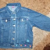 Пиджак джинсовый на девочку 134-140 р