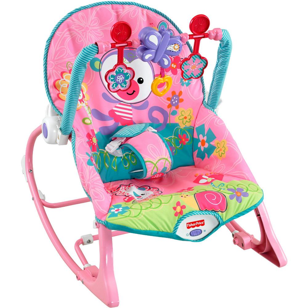 Fisher-price кресло - качалка для девочки обезьянка girls' infant-to-toddler rocker фото №1