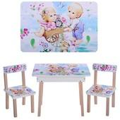 Детский столик со стульчиками Vivast (503-18) c ящиком