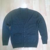 Фирменный шерстяной свитер кофта M-L