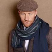 мужской двухсторонний шарф от тсм tchibo. 50% шерсть.