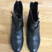 Кожаные ботильоны janet d(германия),сапожки на каблуке,ботинки,ботиночки+подарок