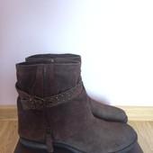 Итальянские замшевые сапожки roberto santi,ботинки,сапоги,полусапожки+подарок