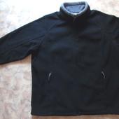 Черный флисовый реглан-кофта 48-50