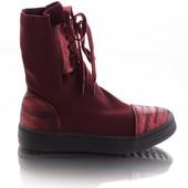 Стильные женские текстильные ботинки