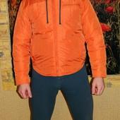 Мужская демисезонная оранжевая куртка р. 52-54 Noname