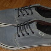Кожаные кеды туфли кроссовки Vans 43 р хорошее состояние