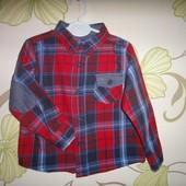 Рубашка Minoti с латочками 1-1,5 года, 80-86 см
