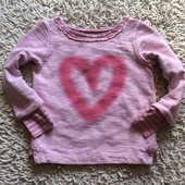 Яркий свитшот Next на 5 лет с принтом сердце