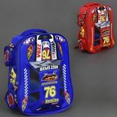 Рюкзак школьный Машины, Тачки, The Cars, 2 цвета, 2 отделения, 4 кармана, ортопедическая спинка