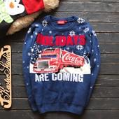 Мужской новогодний свитер Coca- Cola р-р С