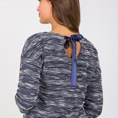 Стильный джемпер для беременных и кормящих мам, синий меланж